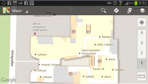 Sample of Google Indoor Maps